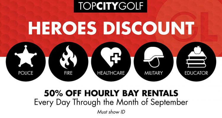 special at topcitygolf for all heroes
