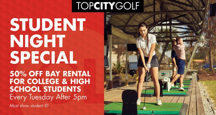 specials at topcitygolf for students